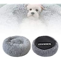 Ezonedeal Calming Bed for Dogs, Donut Cuddler Dog Bed Small Medium Large Orthopedic Pet Bed Self Warming Round Fluffy…