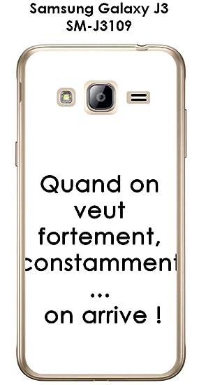 Carcasa Samsung Galaxy J3 - Sm-J3109 Design citación Quand ...