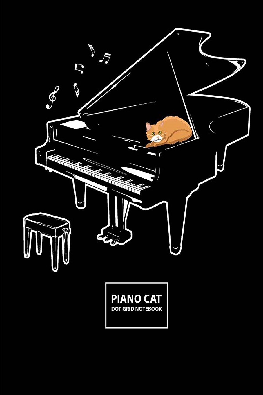 """Download Piano Cat Dot Grid Notebook: Blank Dot Grid Composition Journal - 100 Pages/50 Sheets, 6"""" x 9"""" pdf epub"""