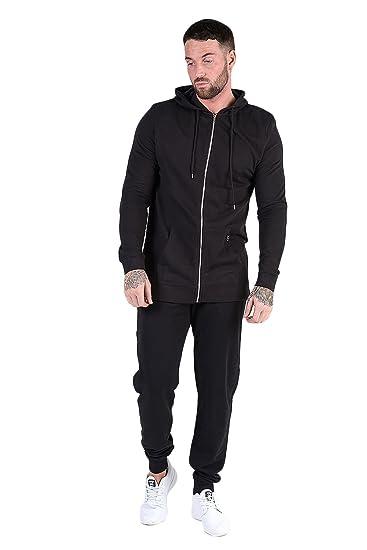 Mens Designer Tracksuit Skinny Slim Fit Joggers Pants Bottom Zip Hoodie S,M,L,XL