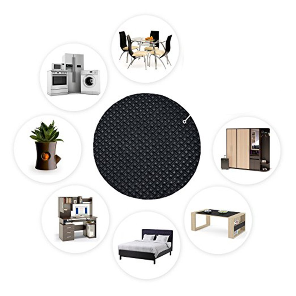 Shindel Furniture and Floor Protectors Furniture Stoppers Rubber Foam Pad Protector Grip Legs on Hard Surfaces - Small,16 PCS