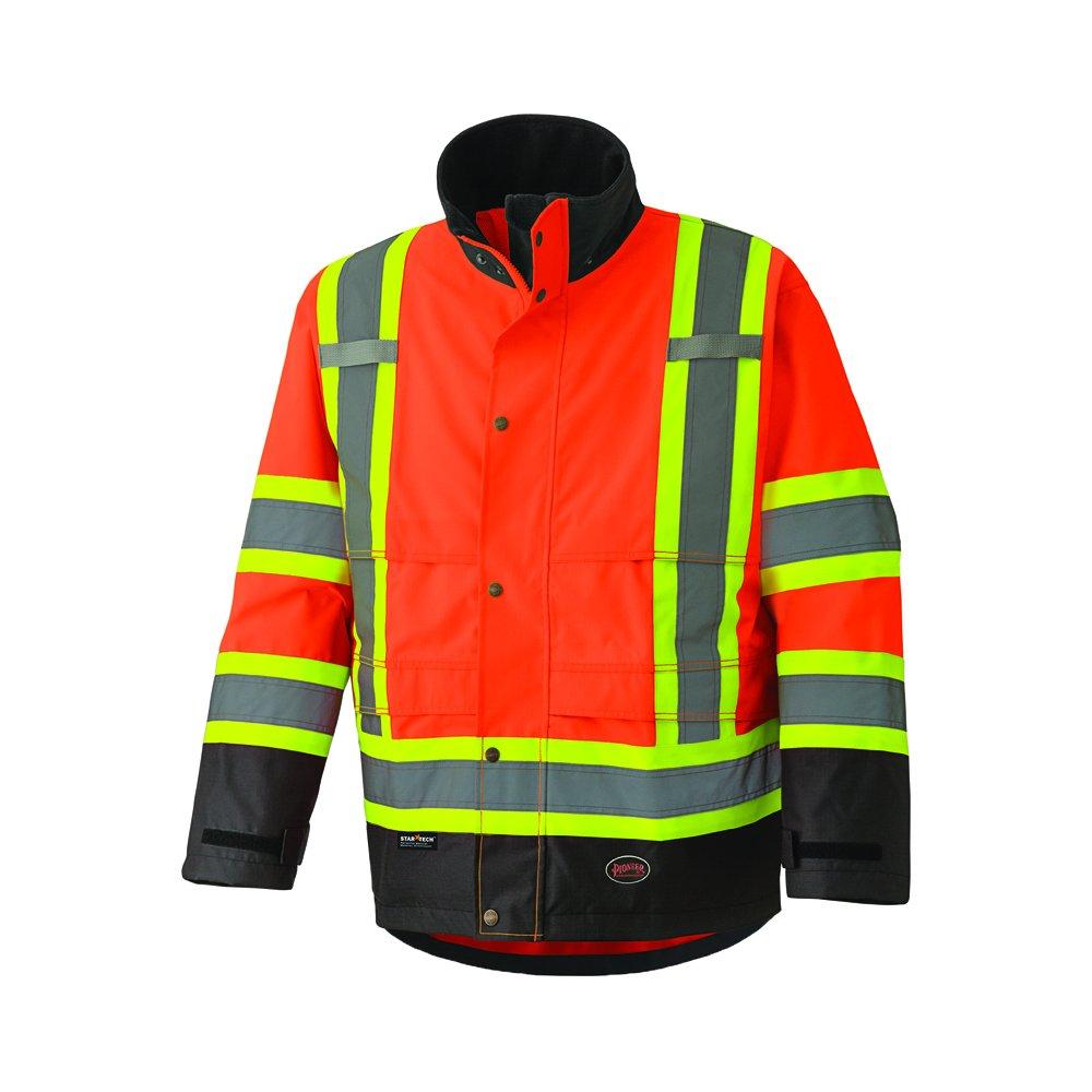 Pioneer V1200250U 300D Hi-Vis Ripstop Waterproof Safety Jacket - Orange (Medium)