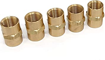 Hex Nipple Coupling 1//4-Inch NPT x 1//4-Inch NPT Fmale Pipe 4 Piece Pipe Fitting and Air Hose Fitings