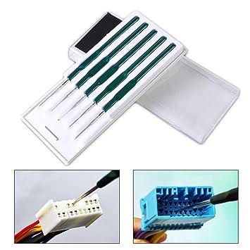 SATKIT Kit especial herramientas para desmontar los cables y pins de conectores de coche todas las marcas: Amazon.es: Electrónica