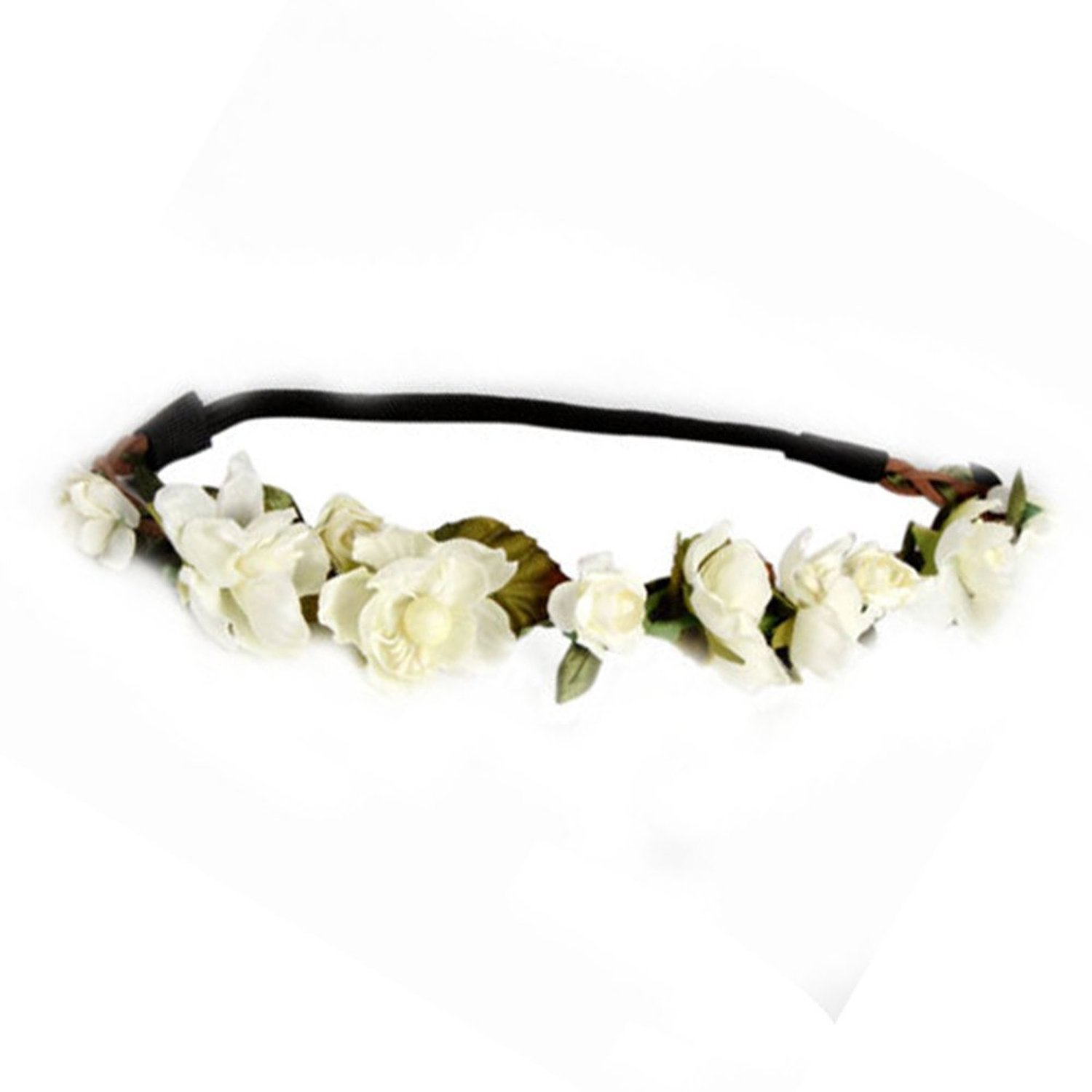 Amazon floral fall cute stretch flower crown party headband amazon floral fall cute stretch flower crown party headband wedding hair wreath f 003 blue clothing izmirmasajfo