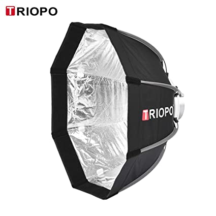TOPTOO Caja de luz Plegable de octógono de 8 Polos de TRIOPO 55cm ...