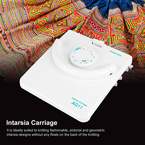 New White AG11 Intarsia Carriage for LK100 LK150 Household Knitting Machine Accessories by Walfront (Image #2)