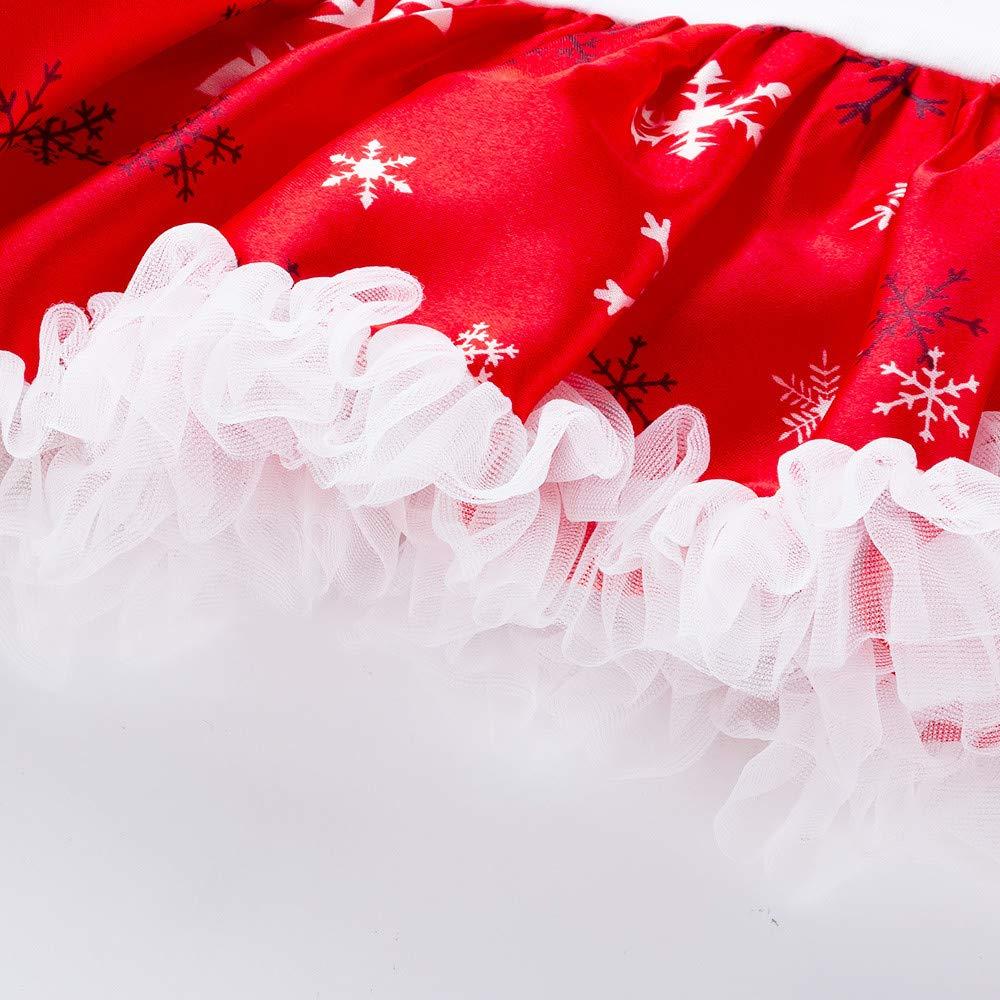 Walabe Robe De Noel B/éB/é Fille My 1St Christmas Manches Longues Tutu Robe No/ëL Ensembles V/êTements Enfant//0-18 Mois Jumpsuit+ Bandeaux