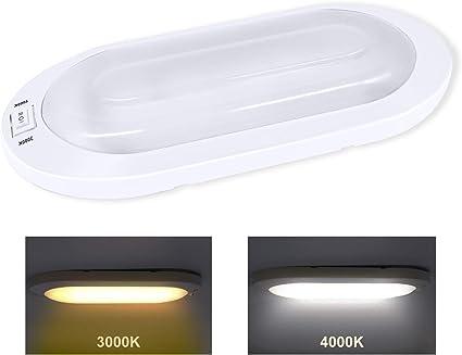 Facon - Lámpara de Techo LED Luz Interior con Interruptor de ...