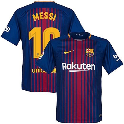 31a18069453 Amazon.com   Nike Barcelona Home Messi Jersey 2017 2018 (Official Printing)    Clothing