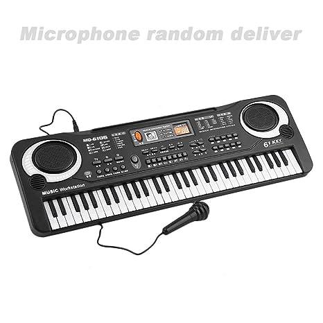 Teclado eléctrico electrónico de 61 Key Kids, órgano eléctrico con micrófono aleatorio