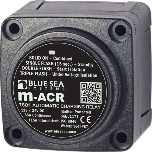 Blue Sea 7601 DC Mini ACR Automatic Charging Relay - 65 Amp - Blue Sea Relay