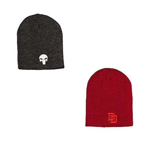 562a6ae52a499 Amazon.com  Daredevil Punisher Reversible Beanie Hat Loot Crate ...
