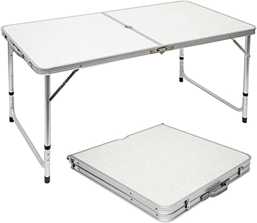 Tavolo Da Campeggio Alluminio.Amanka Tavolino Da Pic Nic 120x60x70cm Tavolo Da Campeggio In