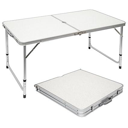 AMANKA Tavolino da PIC-nic 120x60x70cm Tavolo da Campeggio in ...