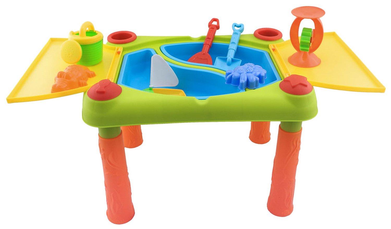 Bieco 06000943 - Spieltisch für Wasser und Sand mit Zubehör, bunt
