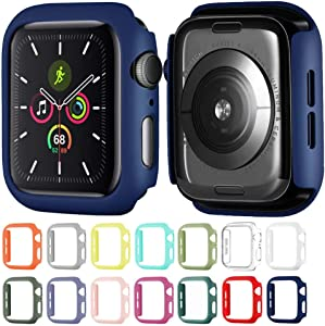 Hontao Hard Matte Case Buit in Thin Protective Cover Compatible Apple Watch 38mm iWatch Series 3 2 1 (Midnight Blue 38mm)