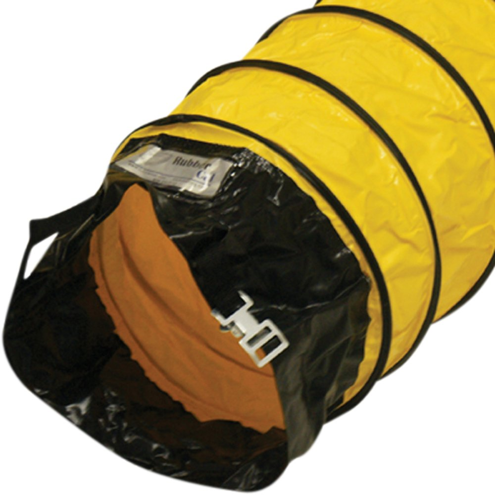 Rubber-Cal Air Ventilator Yellow Ventilation Duct Hose (Fully Stretched) - 6-Inch by 25-Feet 845605058274