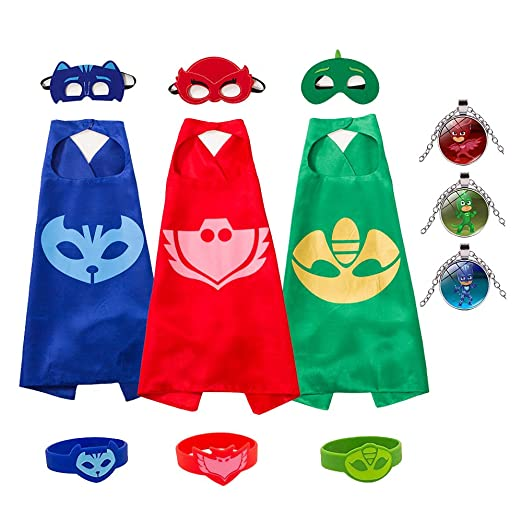 skoter Costume Party Supplies Gekko Owlette Catboy Cape for Girls Boys