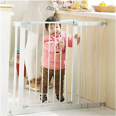 Barreras de puerta Pet Baby Gates Valla De Seguridad De Escalera Autocerrable Extra Ancha Con Puerta Escalera For Bebé Puerta De Aislamiento De Barandilla De Protección Resistente A Roturas: Amazon.es: Hogar