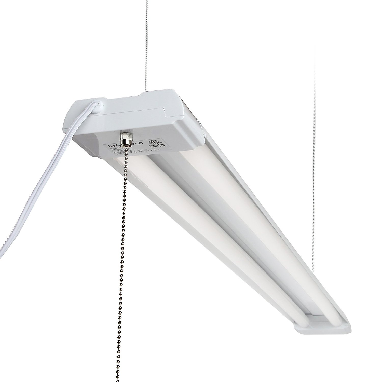 Brightech lightpro led shop light 20 year life 4ft 40 watt brightech lightpro led shop light 20 year life 4ft 40 watt commercial grade workbench utility ceiling fixture for garage office warehouse equivalent arubaitofo Image collections