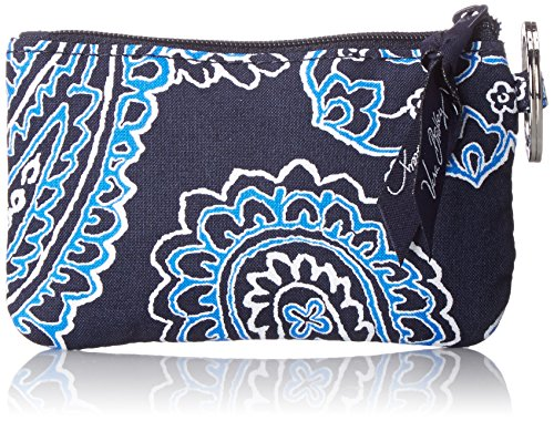 - Vera Bradley womens Zip Id Case, Blue Bandana, One size