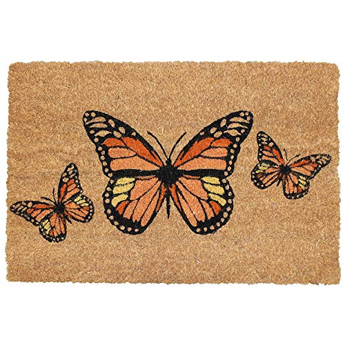 - World Buyers Decorative Coconut Fiber-Coir Rubber Door Mat Non-Slip Floor Mat Indoor and Outdoor Rug Area Carpet 23.62