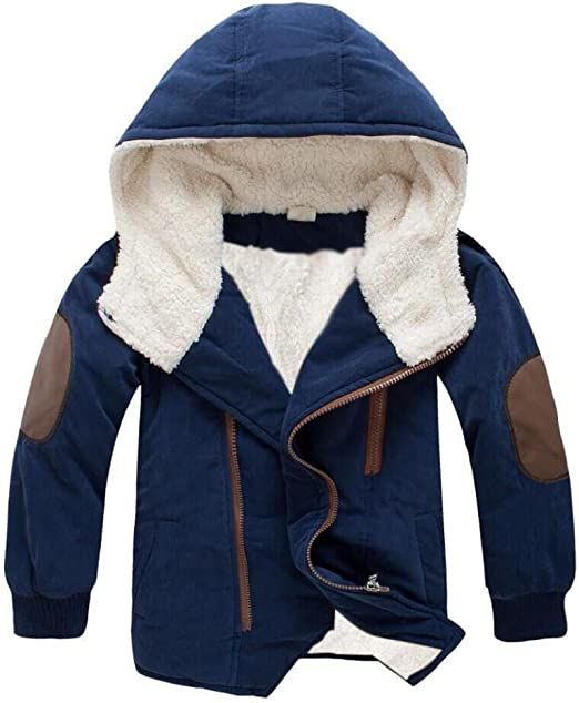 Girls Winter Coats Hooded Printing Outwear Jackets Long Suede Zipper Warm Kids