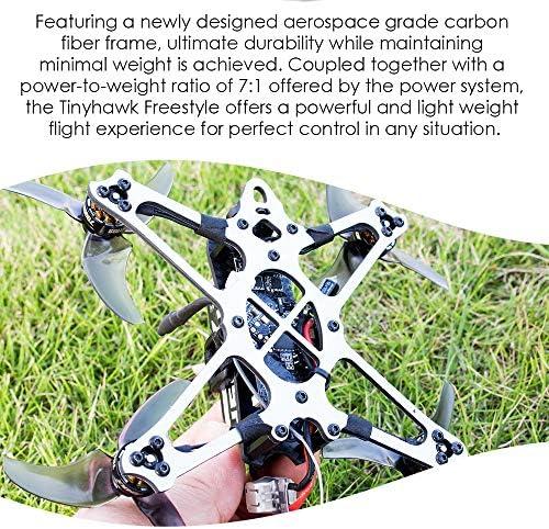 Mobiliarbus EMAX Drone de Course Freestyle Tinyhawk 115 mm 2.54 Pouces Hélice F4 5A ESC Moteur sans Balai 600TVL FPV Racing Drone RC Version BNF pour la Formation RC pour débutants