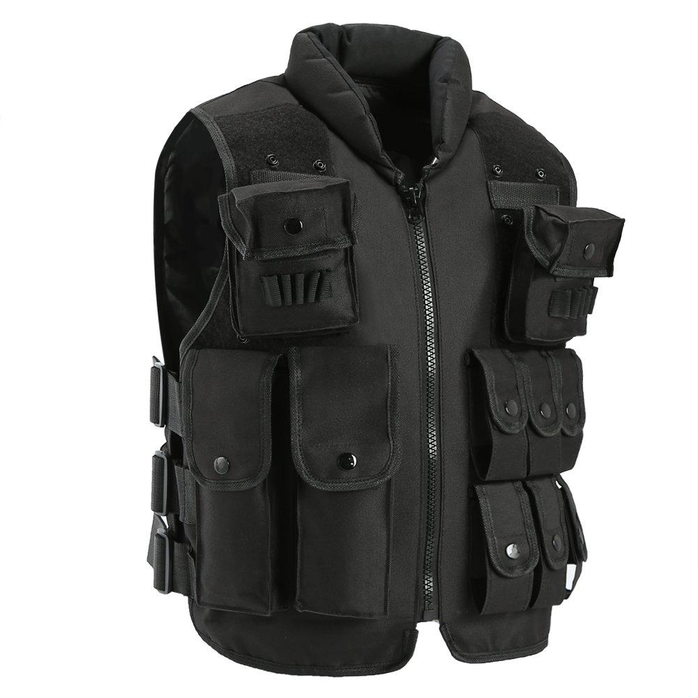 antWalking Outdoor Tactical Nylon Vest Security Guard Adult Waistcoat CS Field Combat Training Vest