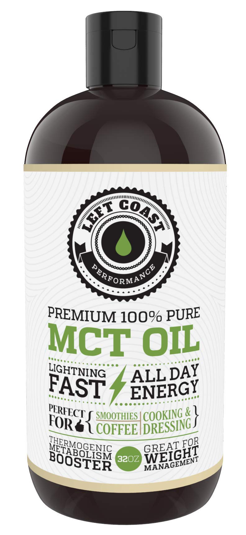 MCT Oil Keto derived only from Sustainable Coconuts (32oz). C8 and C10. Keto Diet   Paleo Friendly. Each Batch is Independently Tested (32oz)