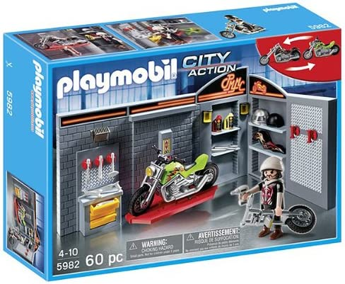 Playmobil - Motor Bike Shop - 5982: Amazon.es: Juguetes y juegos
