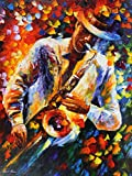 LATE NIGHT is an Original Oil Painting on Canvas by Leonid Afremov. Image: 48 x 36. Leonid had this to say about LATE NIGHT: Everything is painted in quick strokes of different color applied next to each other in a way that reminds one of a motley qu...