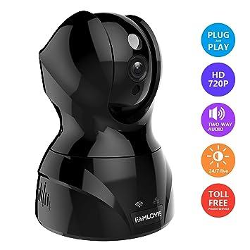 1536P 3MP Cámaras IP de vigilancia de Seguridad Interior WiFi inalambrico Trabaja con Alexa Almacenamiento en la Nube Monitor de bebé Pan/Tilt/Zoom Motion ...