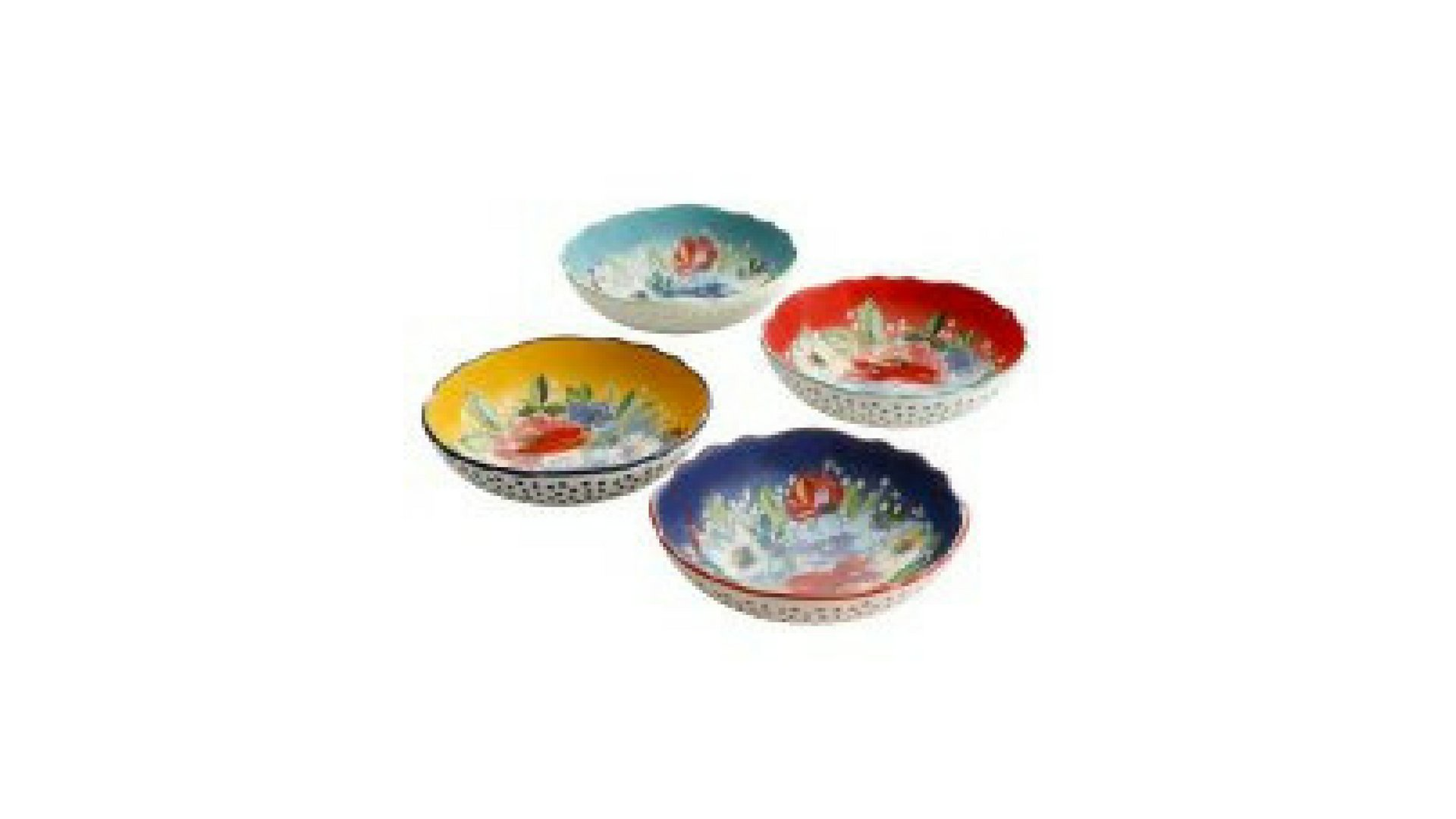 The Pioneer Woman Beautiful Florals Melody 7.5-Inch Pasta Bowls, Set of 4