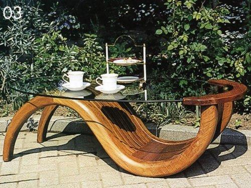ガーデニング:チークガラステーブル(塗装品)【商品番号:36324】 B001IG73AK