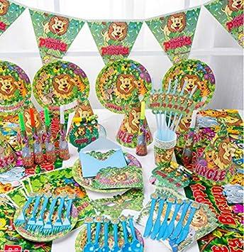 SDFAF Vajilla desechable Fiesta de cumpleaños para niños ...