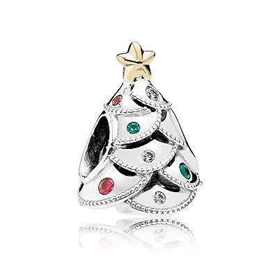 Pandora Christmas Charms.Pandora Charm Festive Tree With 14k Gold And Red Green 791999czrmx