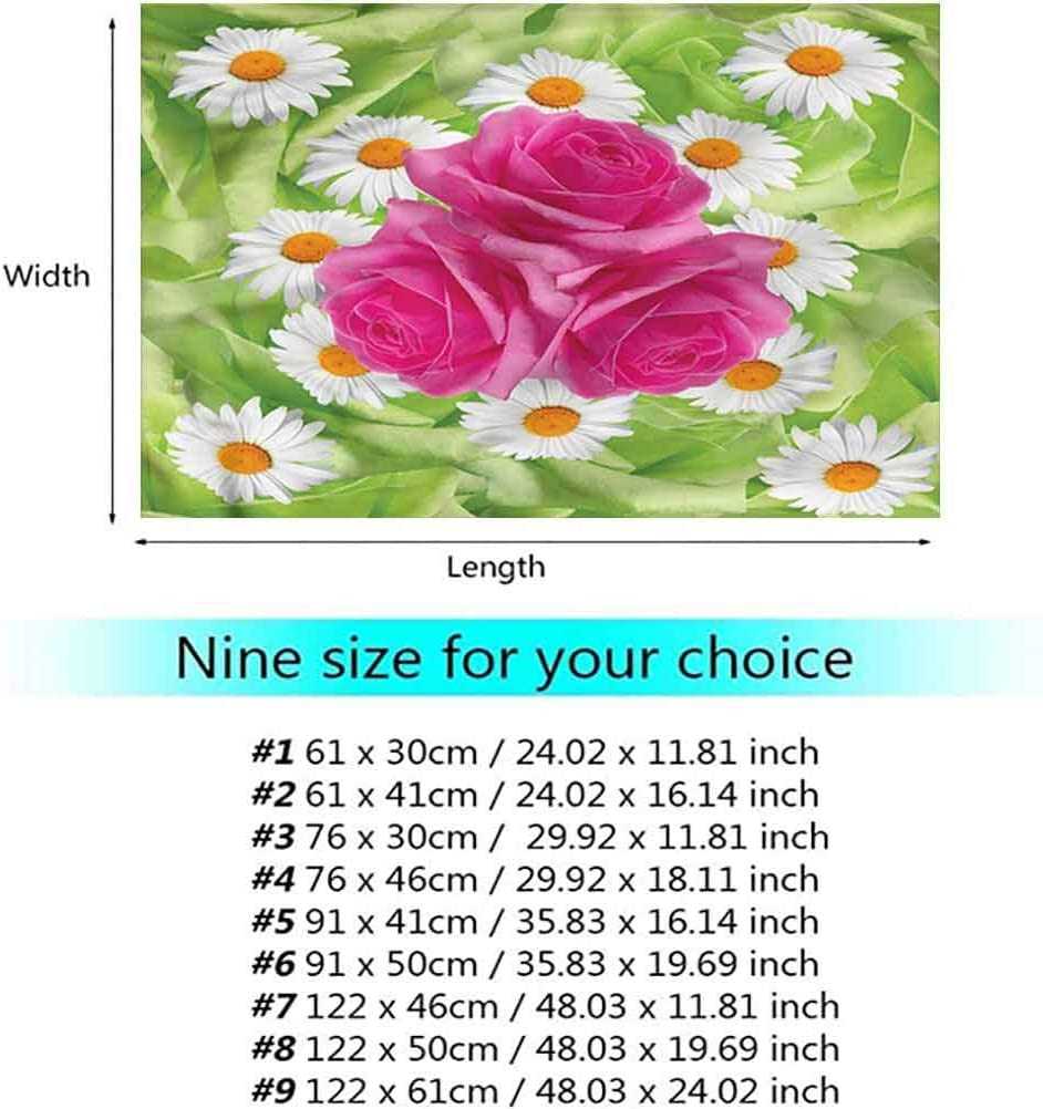 Stevenhome Rose Underwater World Backdrop Daisy Bouquet with Warm Colors Photography Background W48 x L24 Inch