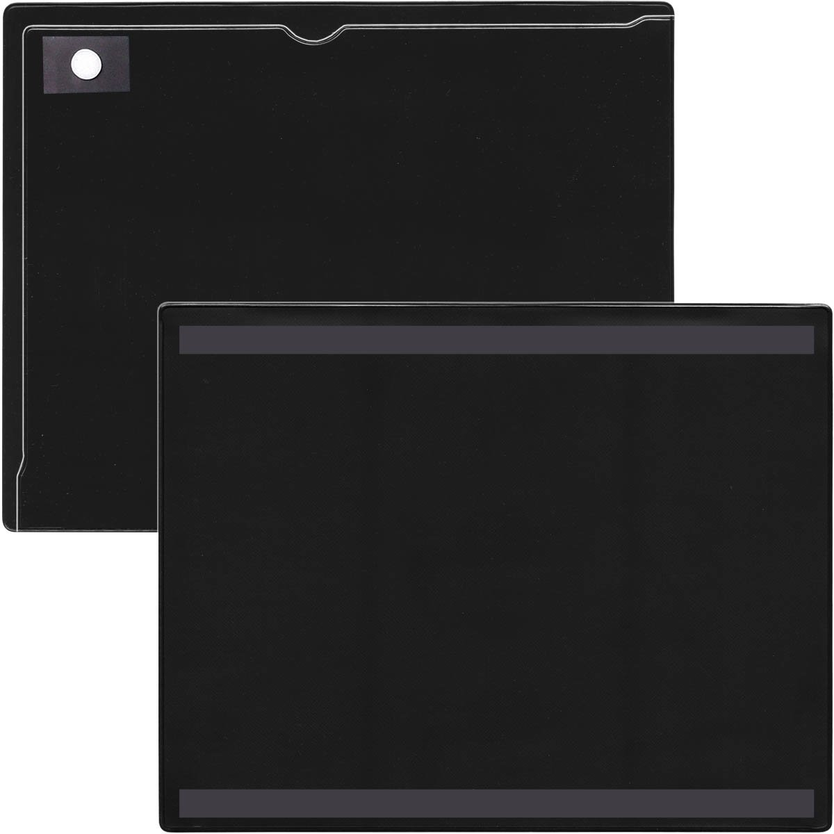 StoreSMART - Magnetic Closure Pocket - Magnetic-Back - 25-Pack - Black - 8.5'' x 11'' (MCP8511MB-PQBK-25)