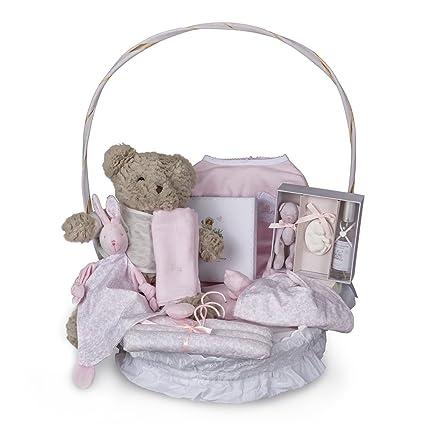 Canastilla bebé en cesta Vintage Plena - cesta regalo recién nacido ...