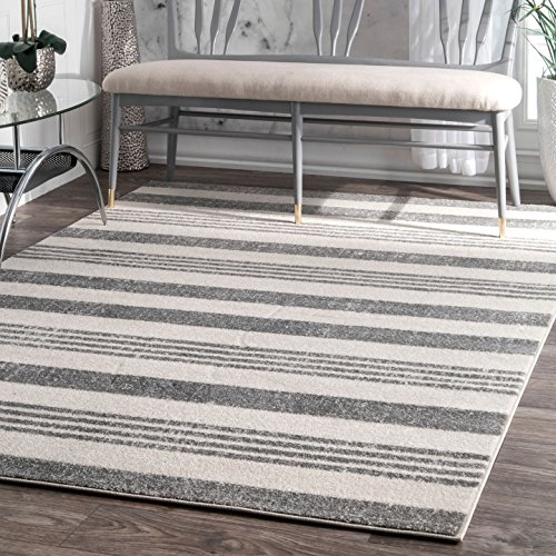 nuLOOM Vernazza Striped Area Rug, 4 x 6 , Grey