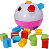CifToys Educational Shape Sorter Ball Kids Toys | Develop Fine Motor Skills, Have Fun, Learn About Shapes & Colors (Pink-White)