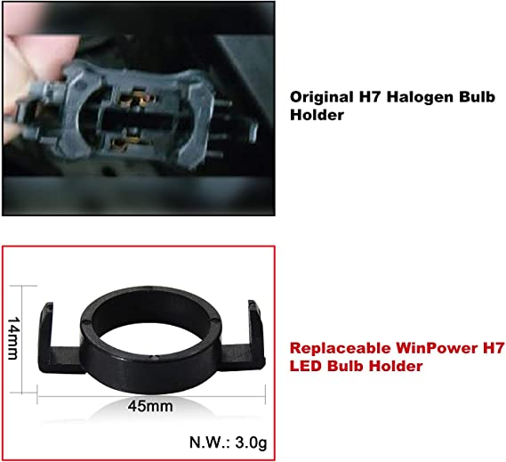 Win Power H7 Led Birne Basis Clips Adapter Halter Haltefedern Unterstützung Steckdose Zubehör Für Led Lampensockel 2 Stücke Auto