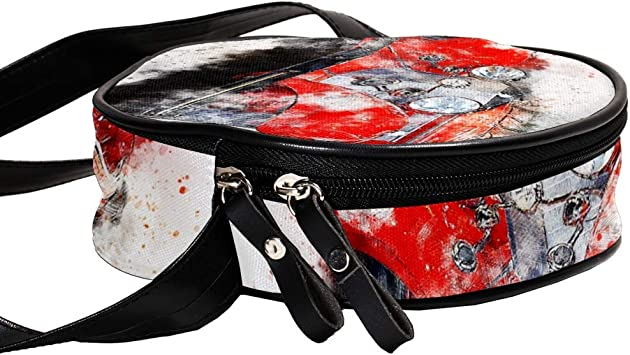 small crossbody bag for women and men,anti theft shoulder bags zip bag crossbody Red Dogs 7x1.8 inch