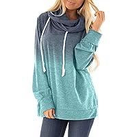Dearlove Womens Casual Hooded Sweatshirt Loose Drawstring Pullover Hoodies
