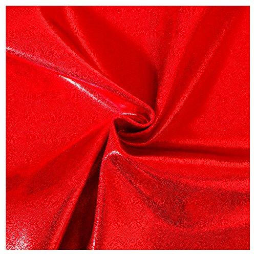 5-Yard Lot Red Fog Foil Poly/Spandex Fabric