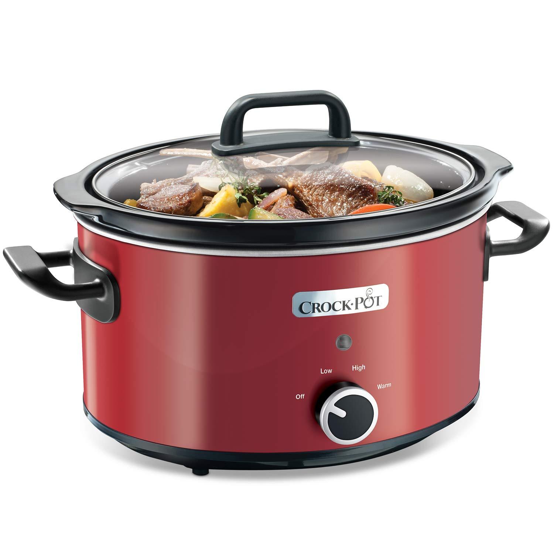 Crock-Pot SCV400RD - Olla de cocción lenta de 3.5 L, color rojo product