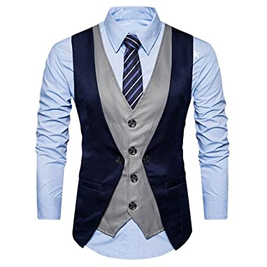 Fashion Chaleco Hombre Blazers Traje Sin Manga Formal ...