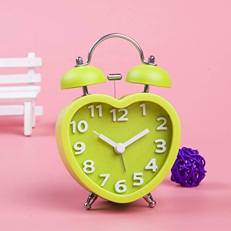 Alarm Clock Heart Bedroom Colorful Tabletop Desk furnishing Home 191